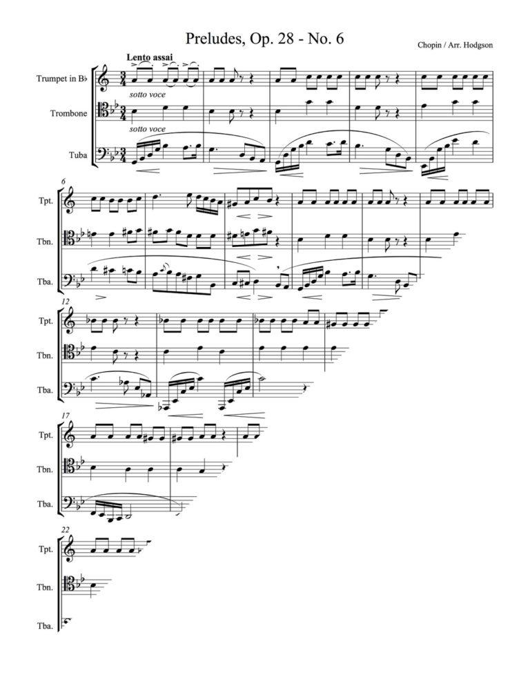 Preludes, Op.28 No.6 (Brass Trio)