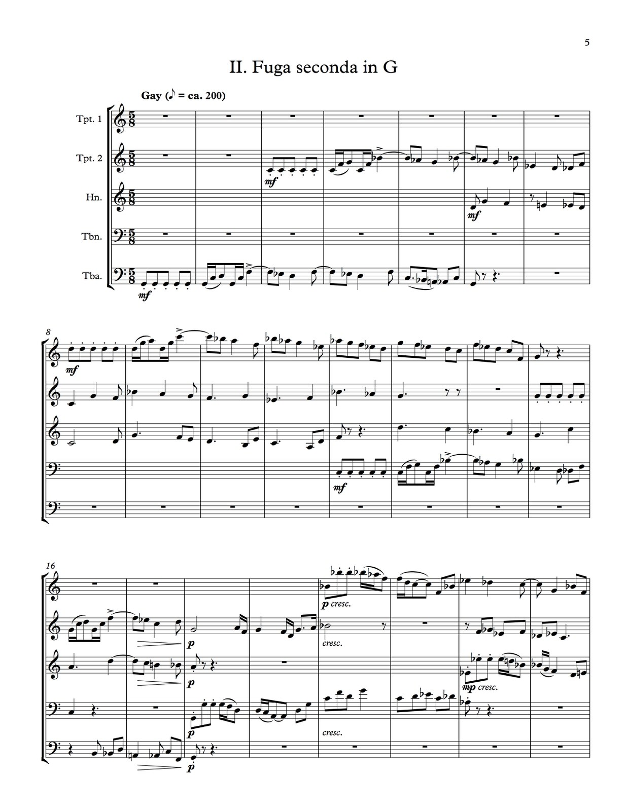 Hindemith, Five Movements from Ludus Tonalis (Score and Parts)-p37