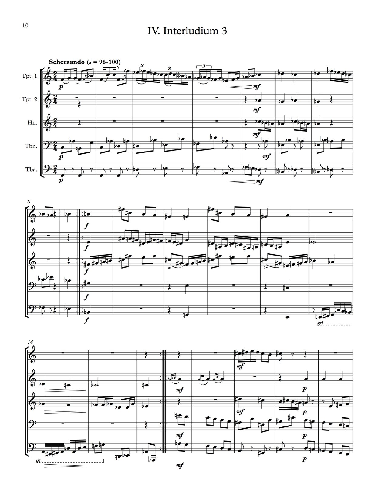 Hindemith, Five Movements from Ludus Tonalis (Score and Parts)-p42