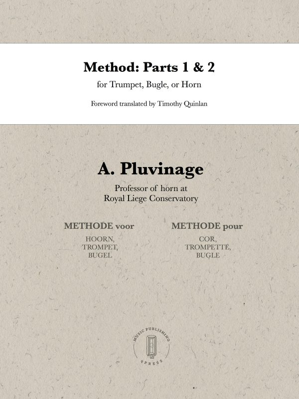 Pluvinage, Method for Trumpet, Bugle, and Horn Complete-1