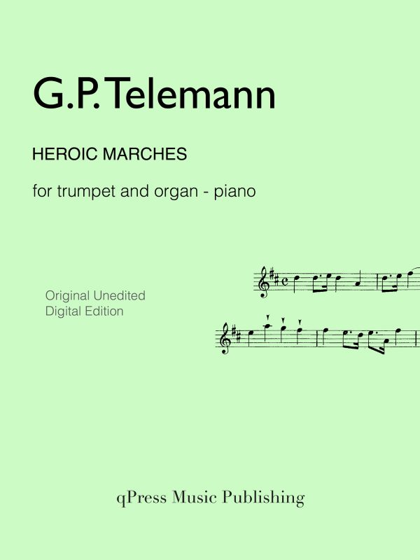 Telemann, Heroic Marches for Trumpet (Part and Score)-p01