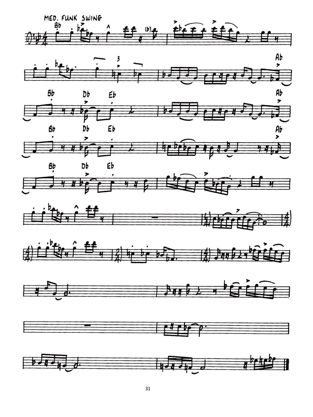 Chesky, Contemporary Jazz Rock Rhythms Bass Clef-p35