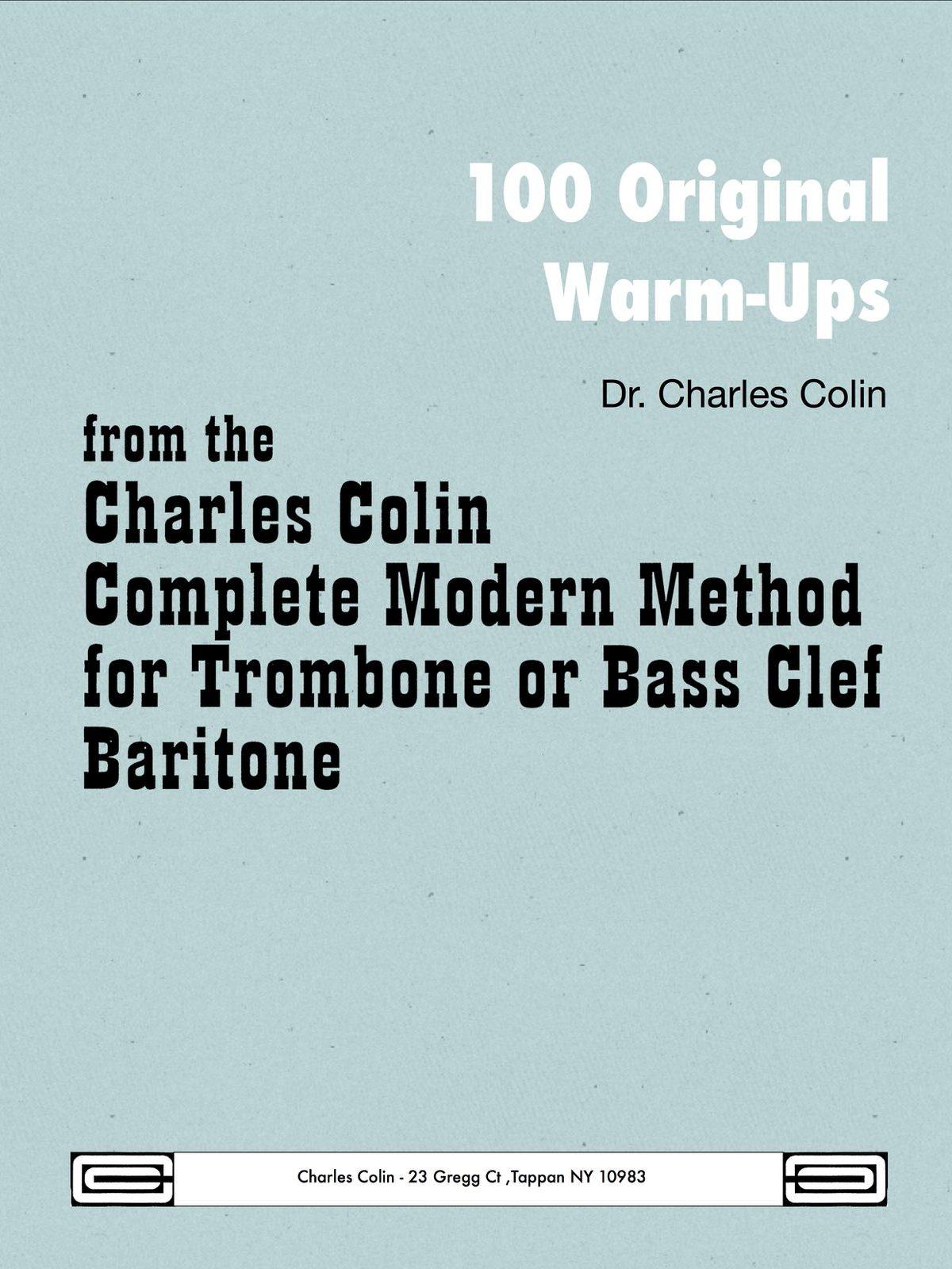 Colin, 100 Original Warm Ups Bass Clef-p01