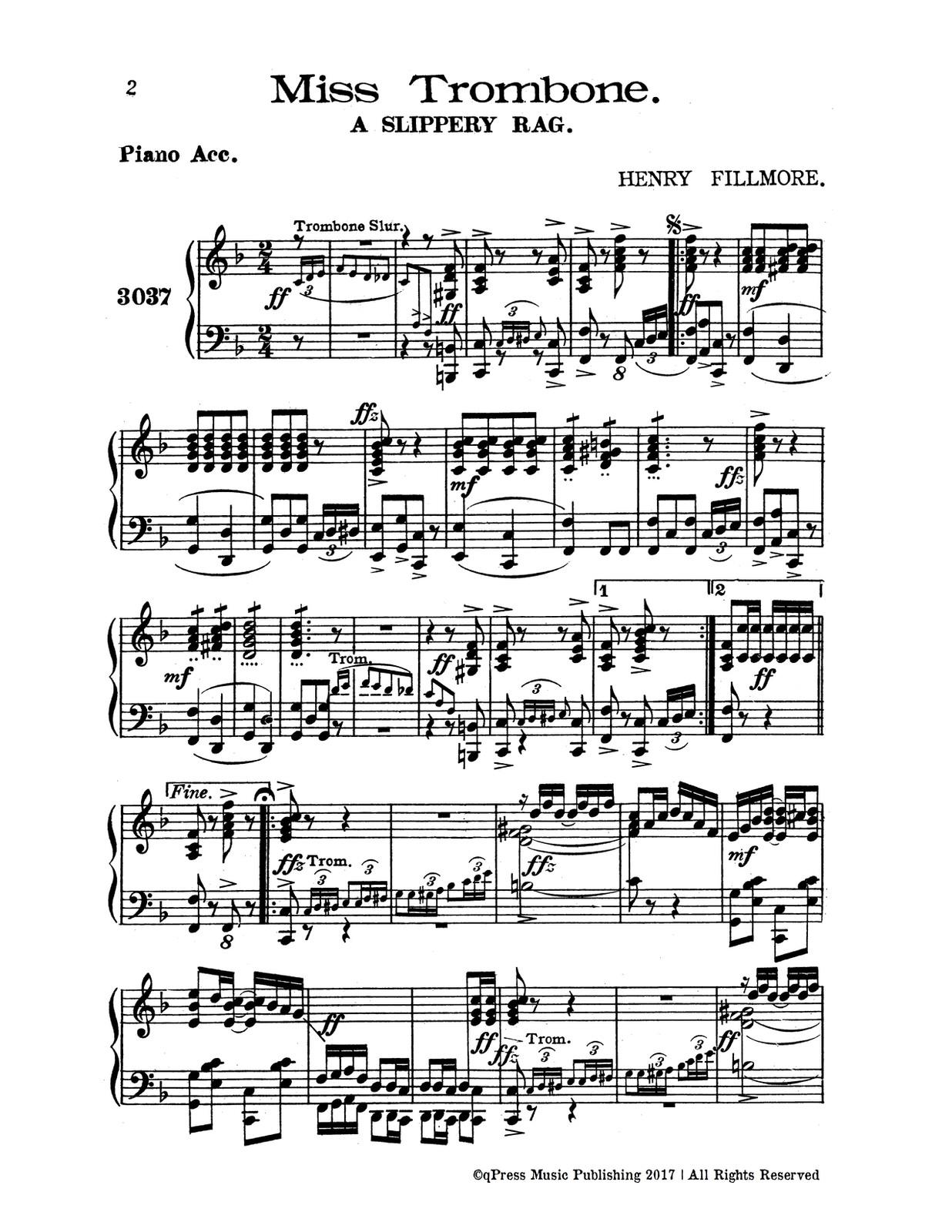 Fillmore, Trombone Family Solo Collection-p12