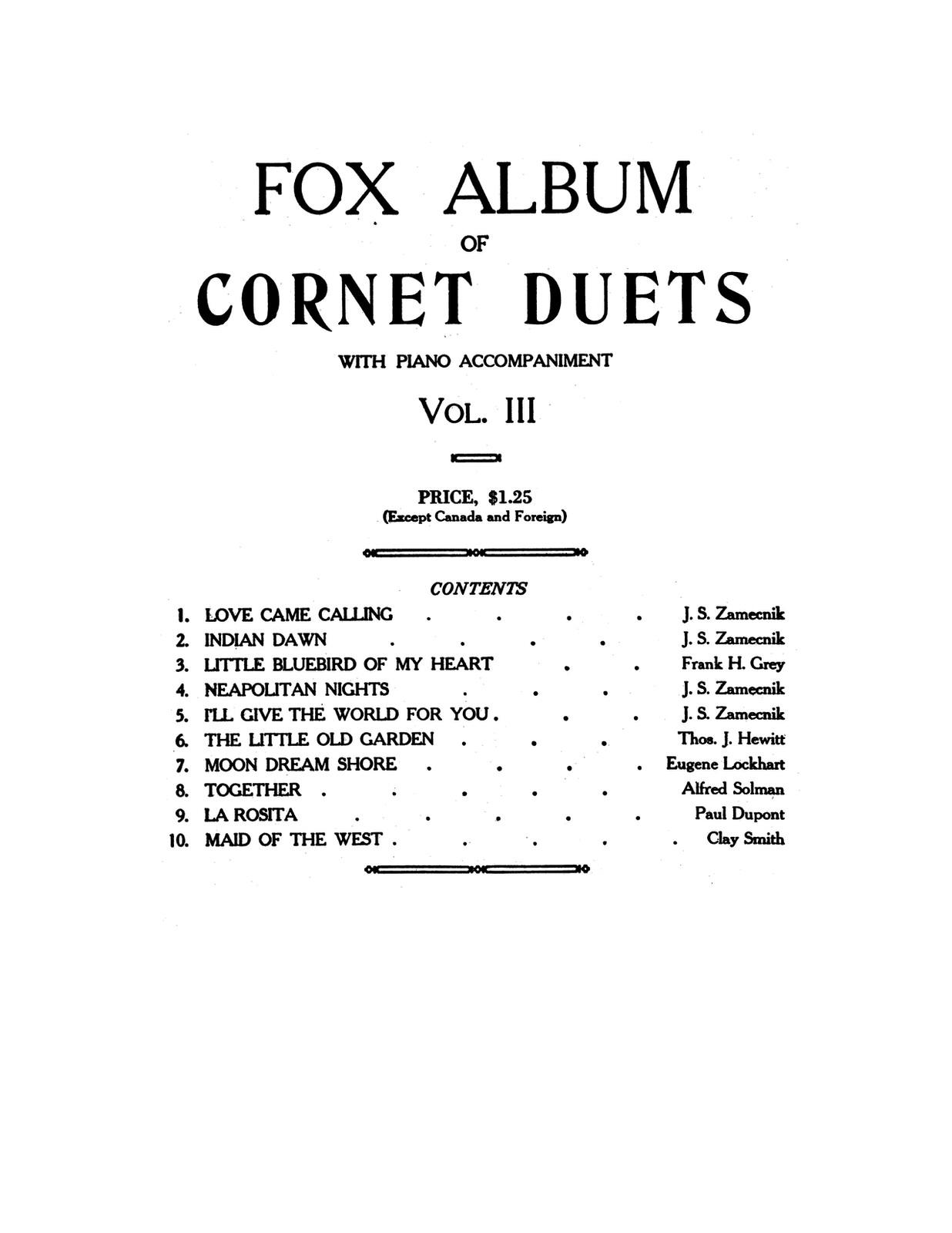 Fox Album of Cornet Duets Vol.3-p27