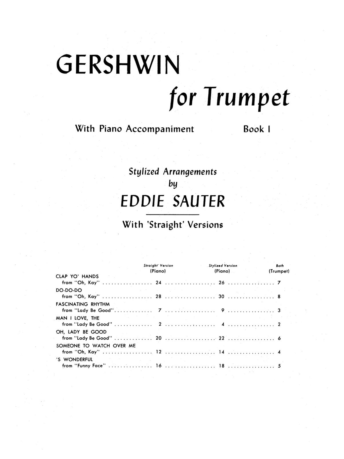 Gershwin, For Trumpet and Piano Book 1-p05