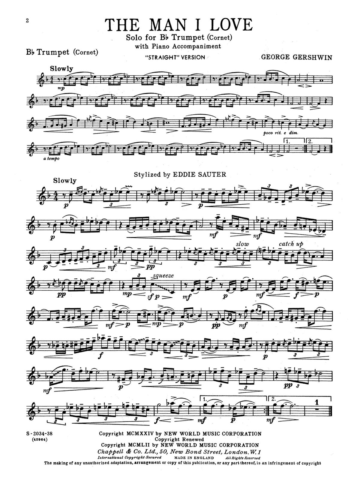 Gershwin, For Trumpet and Piano Book 1-p06