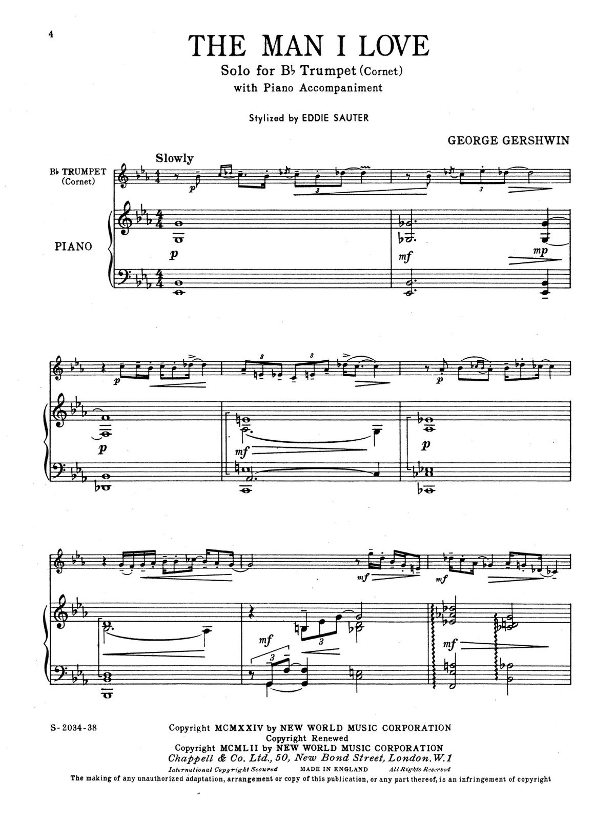 Gershwin, For Trumpet and Piano Book 1-p16