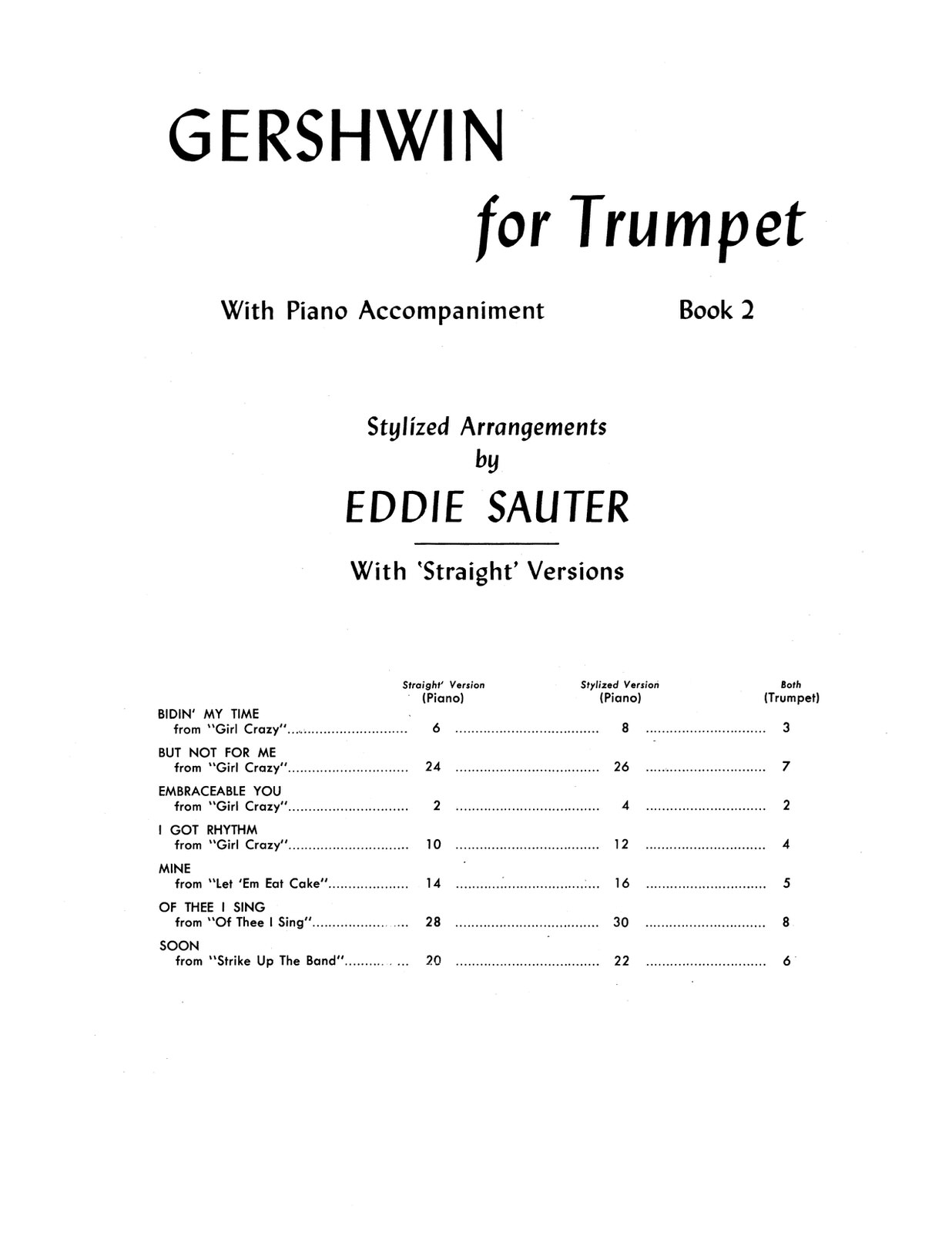 Gershwin, For Trumpet and Piano Book 2-p03