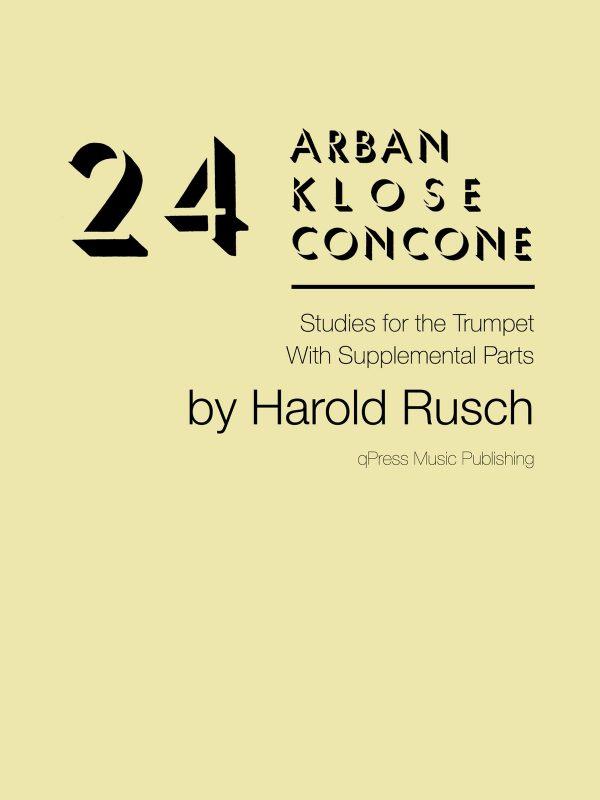 Rusch, Harold, 24 Arban-Klose-Concone Studies-p01