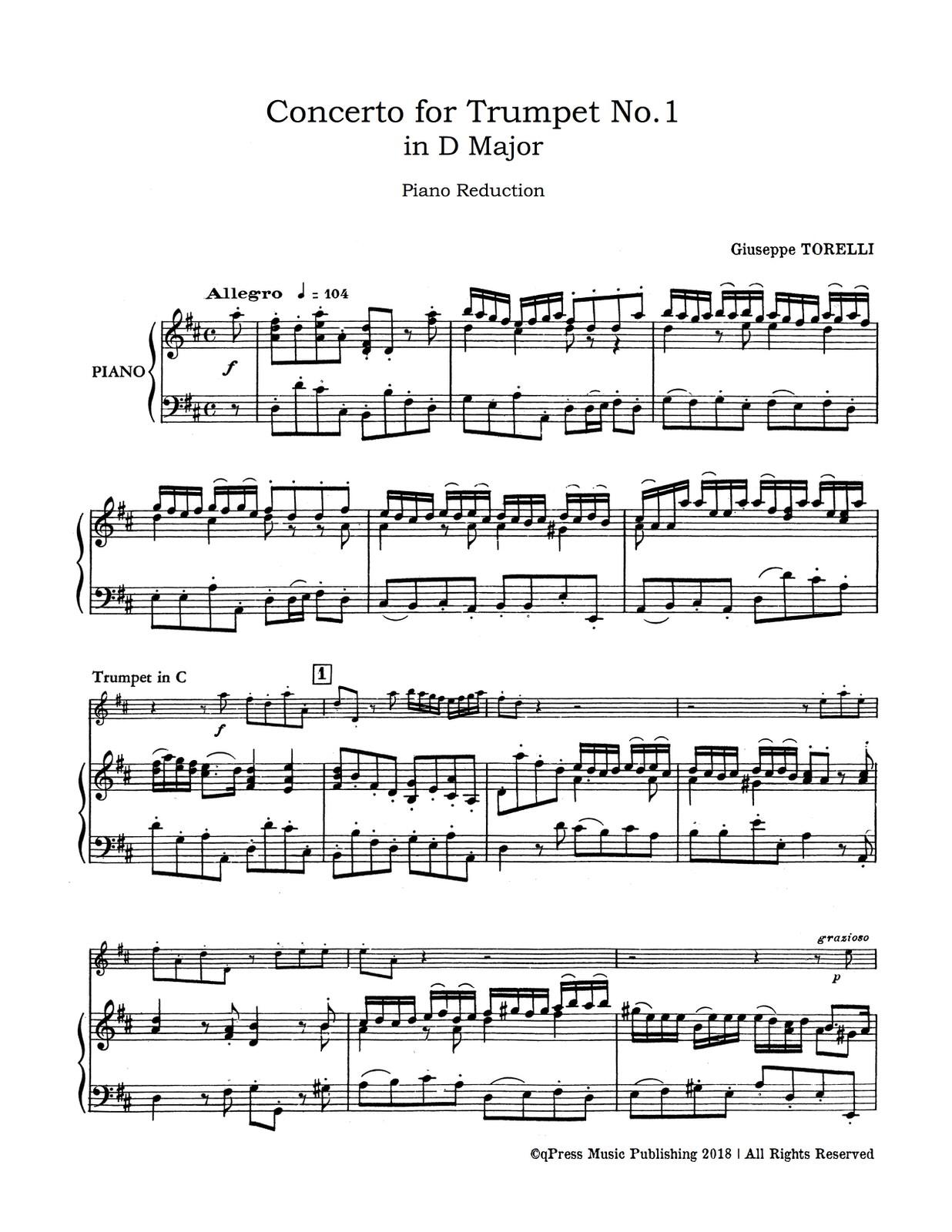 Torelli, Concerto No.1 in D Major (Tpt in C)-p05