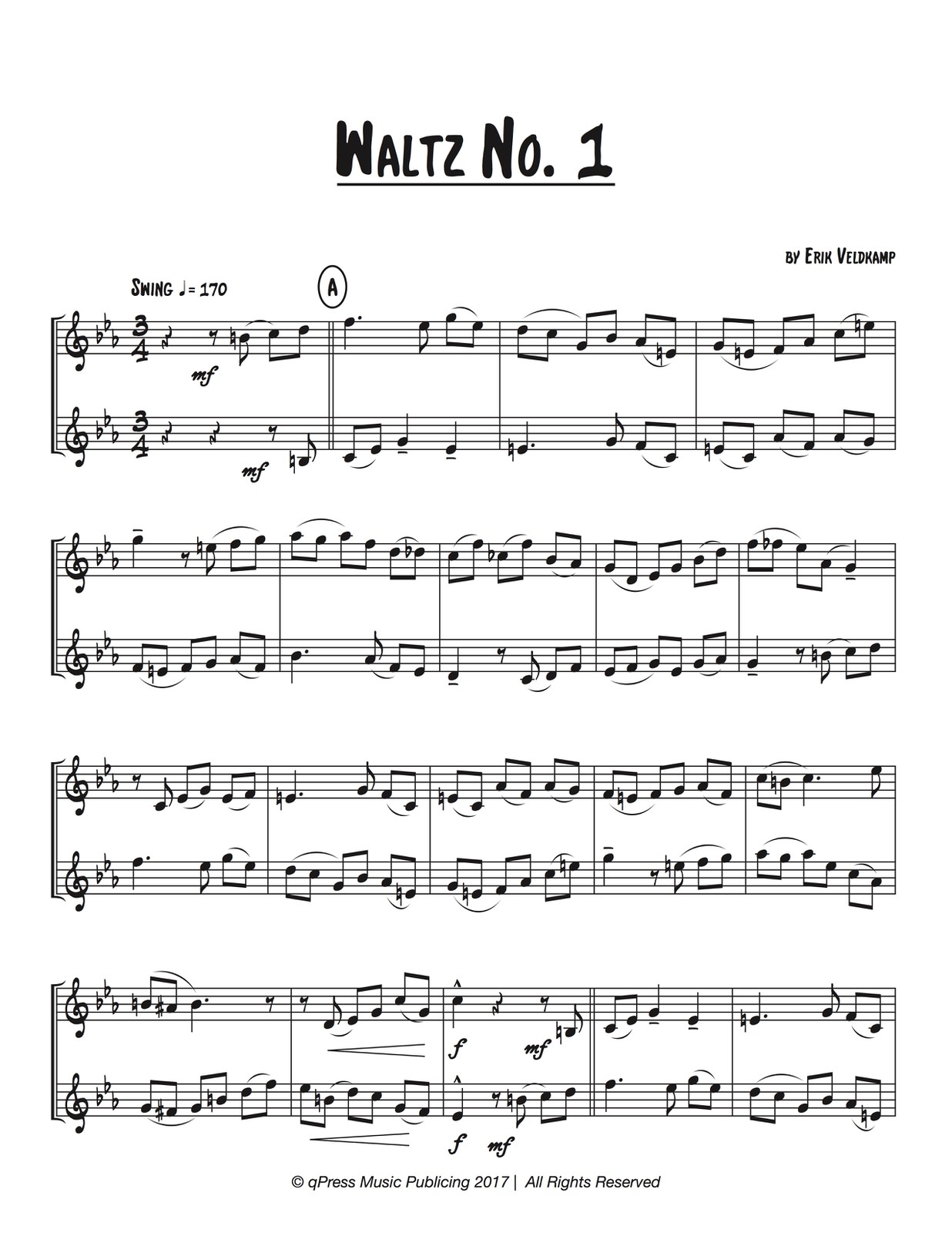 Veldkamp, Six Waltzing Duets for Two Trumpet-p03
