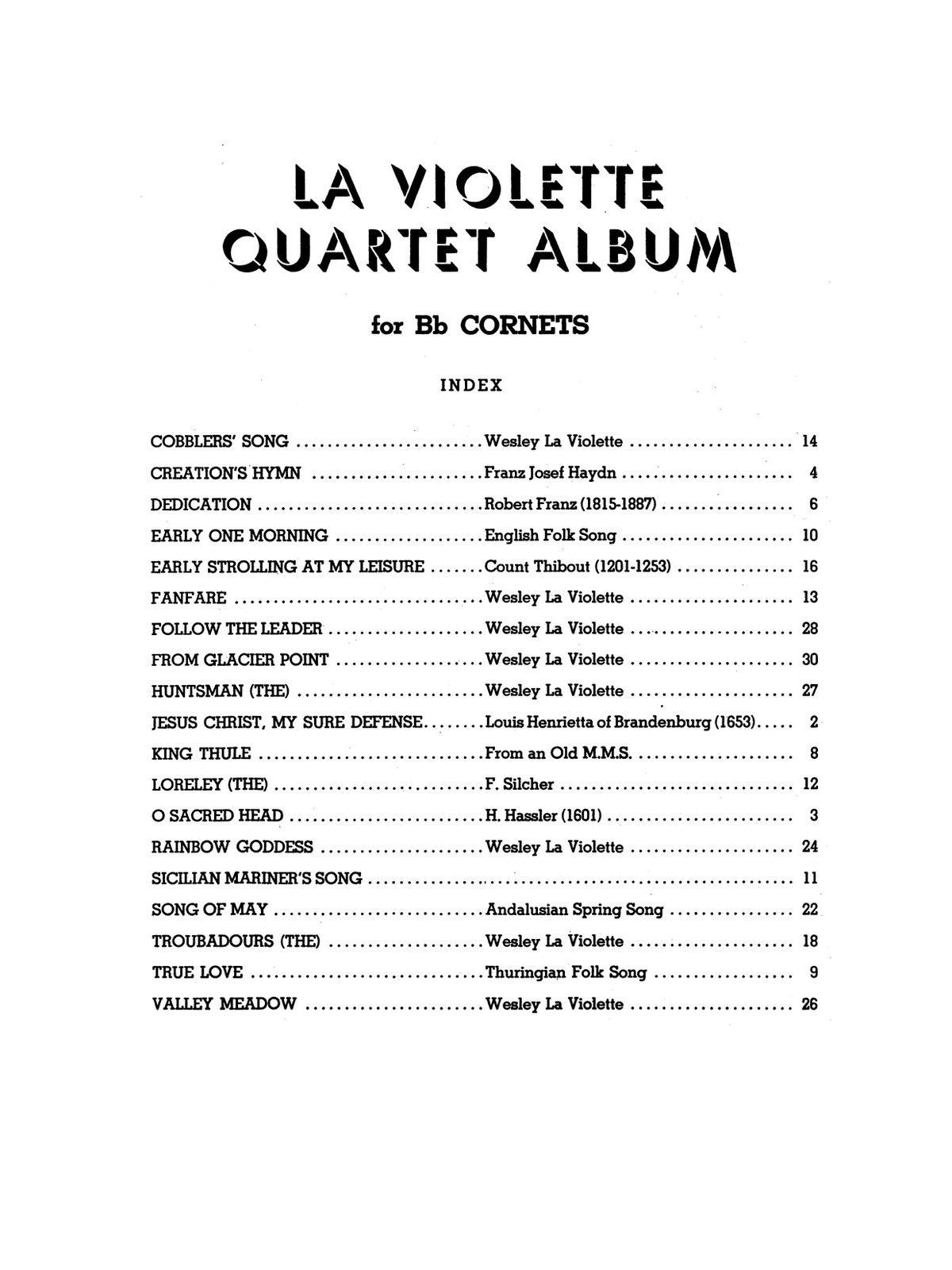 Violette, Wesley La, La Violette Quartet Album-p03