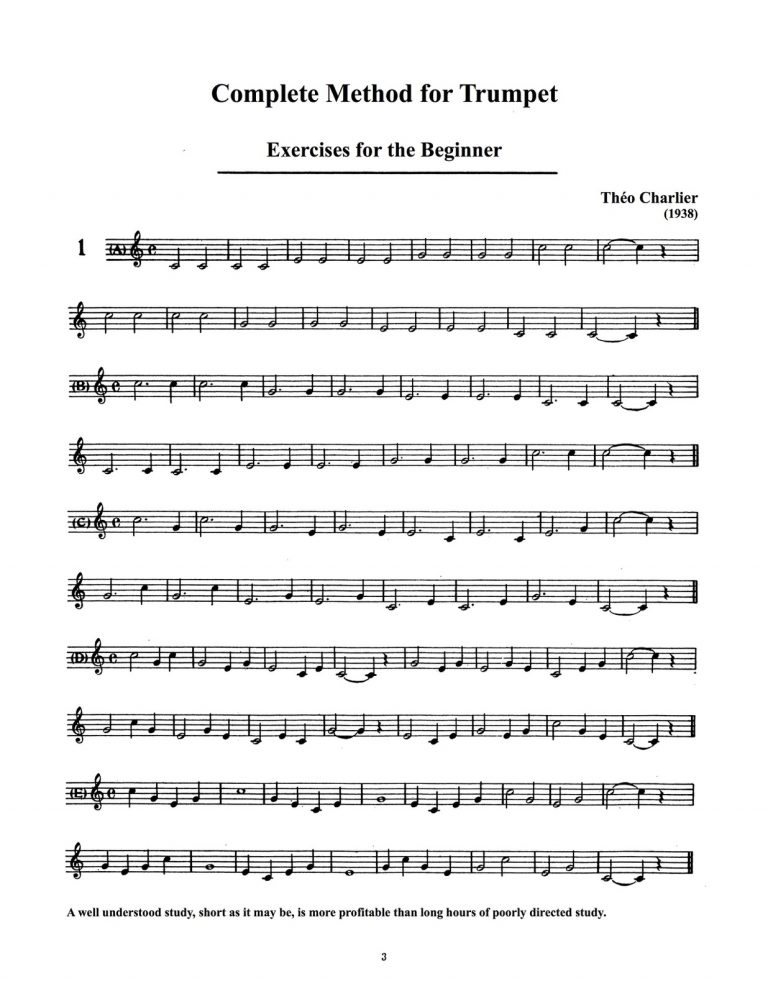 Charlier Complete Method for Trumpet