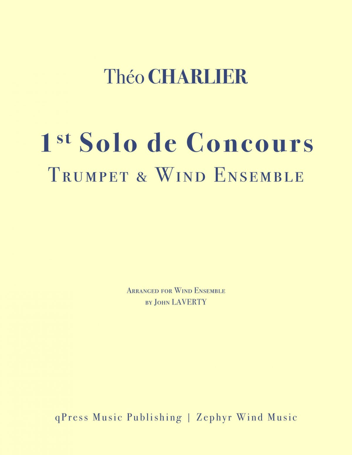 Charlier, Solo De Concours for Solo Trumpet and Wind Ensemble