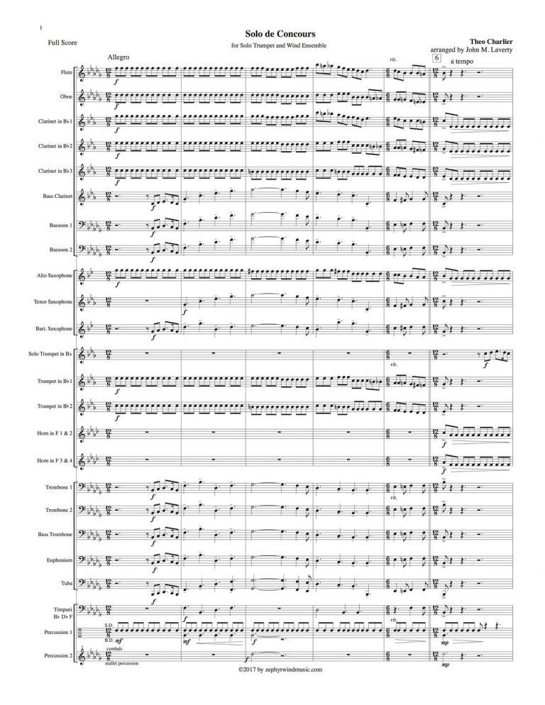 1st Solo de Concours (Solo Trumpet with Wind Ensemble)