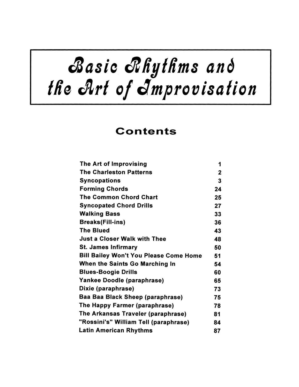 Tarto, Joe, Basic Rhythms and the Art of Improvisation-p003