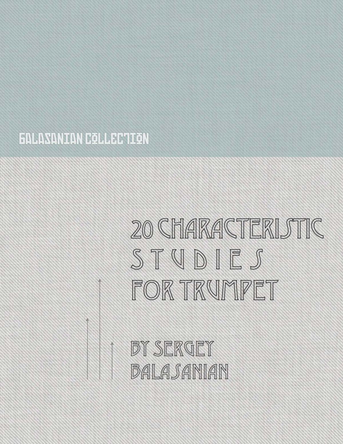 Balasanian, 20 Characteristic Studies-p01