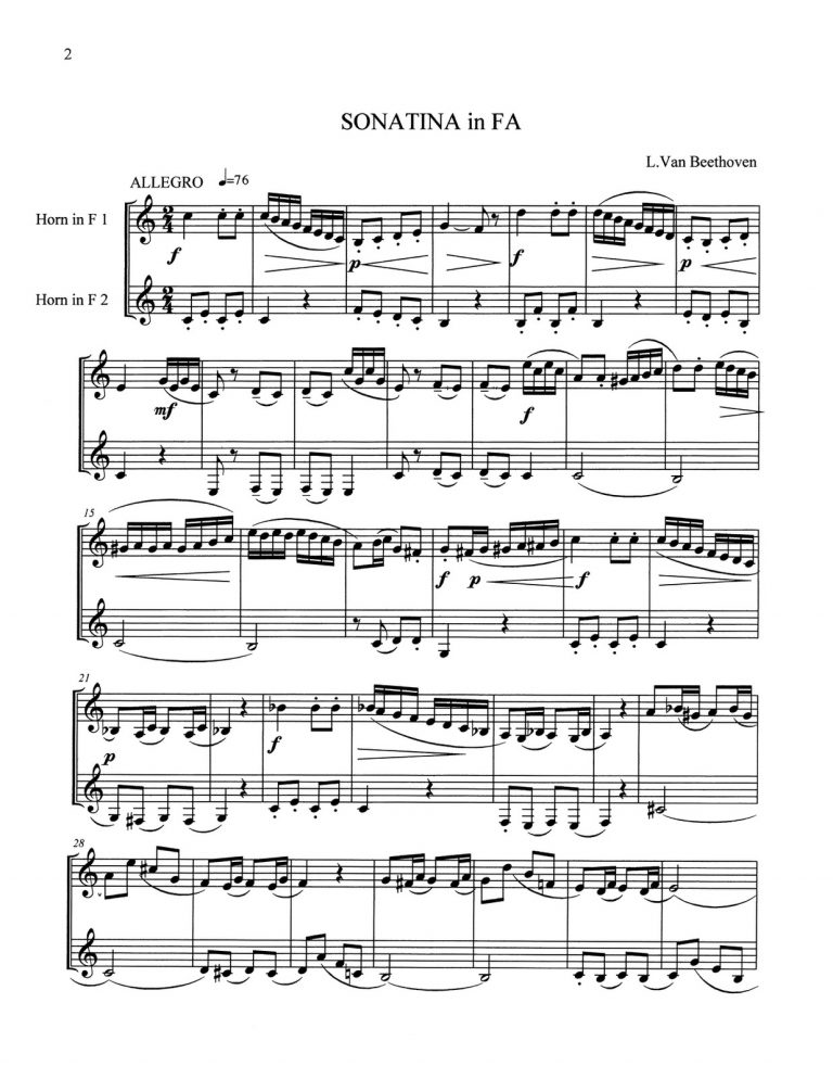 Duets & Inventions by Beethoven & Bach