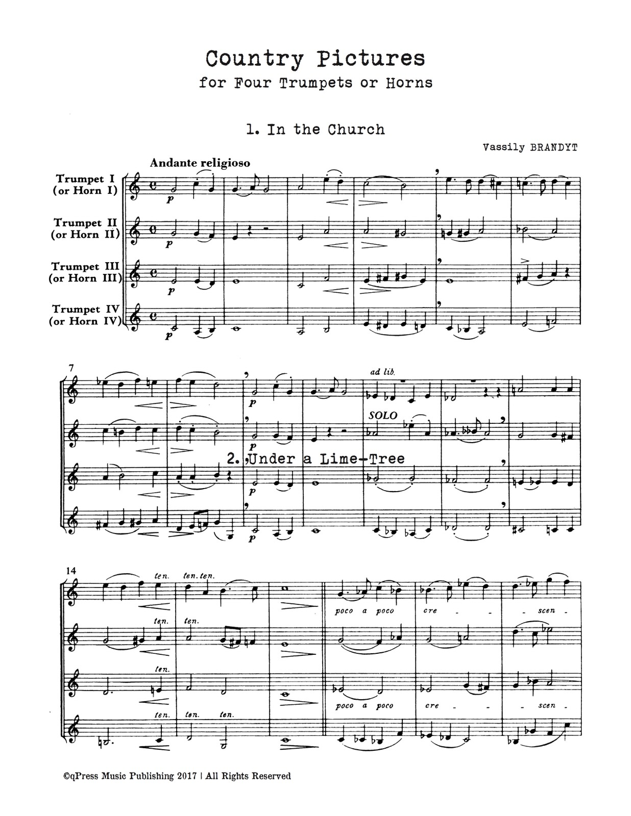 Brandt, Country Pieces for Four Trumpets-p12