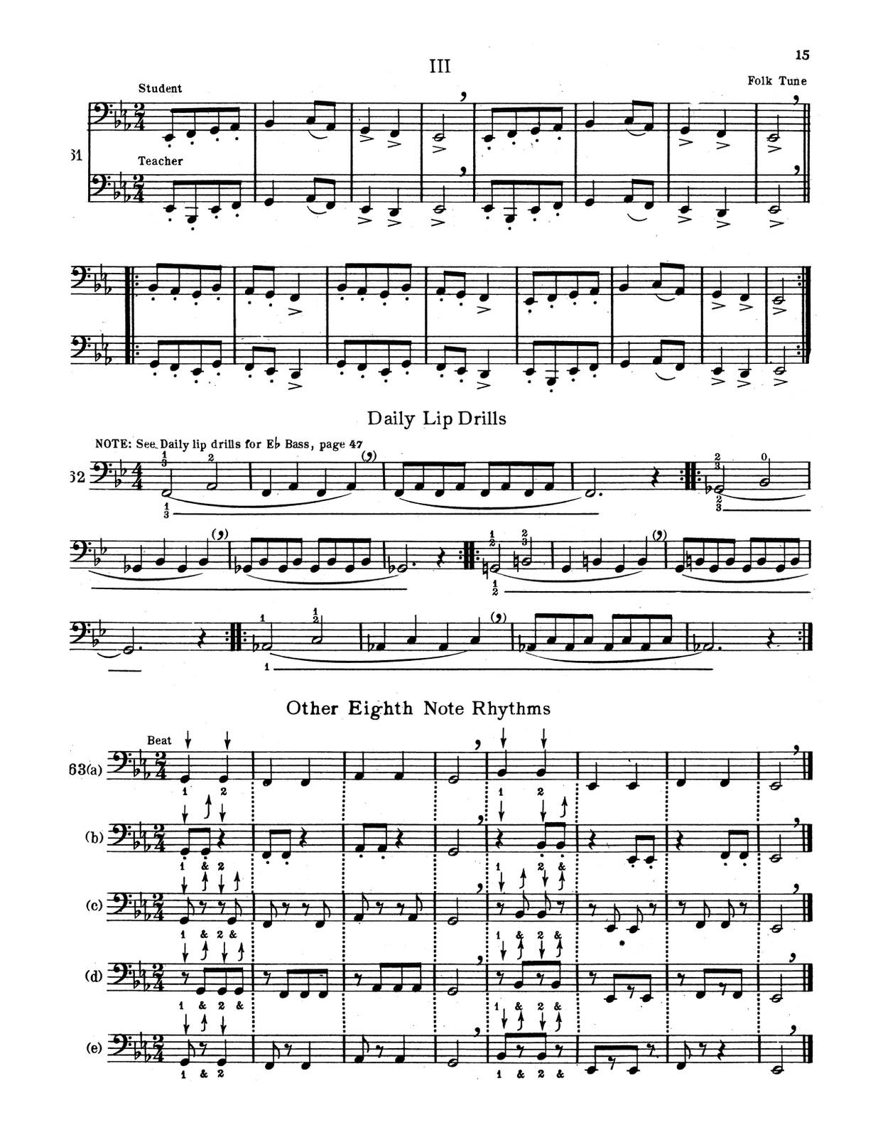 Johnson, Aeolian Method for Eb Tuba and Bb Bass-p15