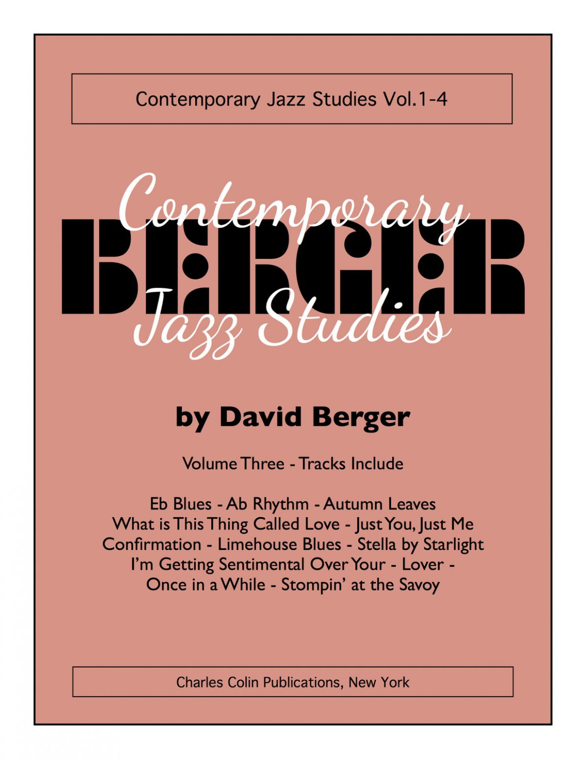 Berger, David Contemporary Jazz Studies V.3
