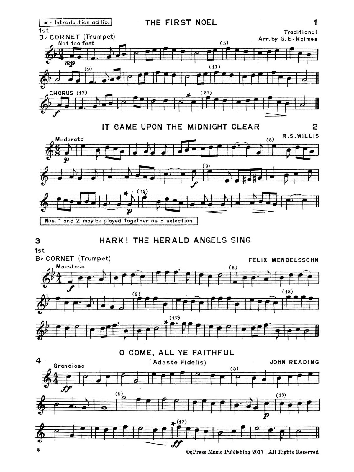 Holmes, GE, Christmas Carols for Brass Quartet-p03