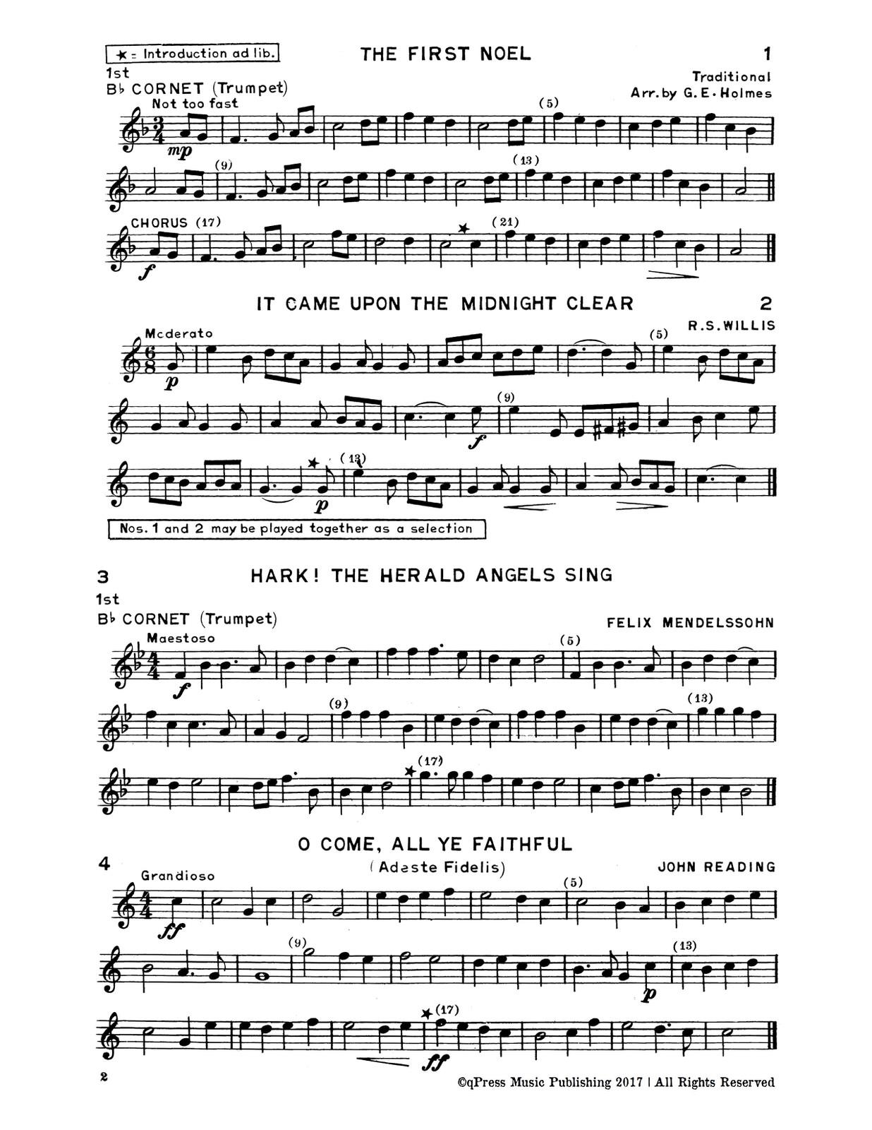 Holmes, GE, Christmas Carols for Brass Quartet-p03