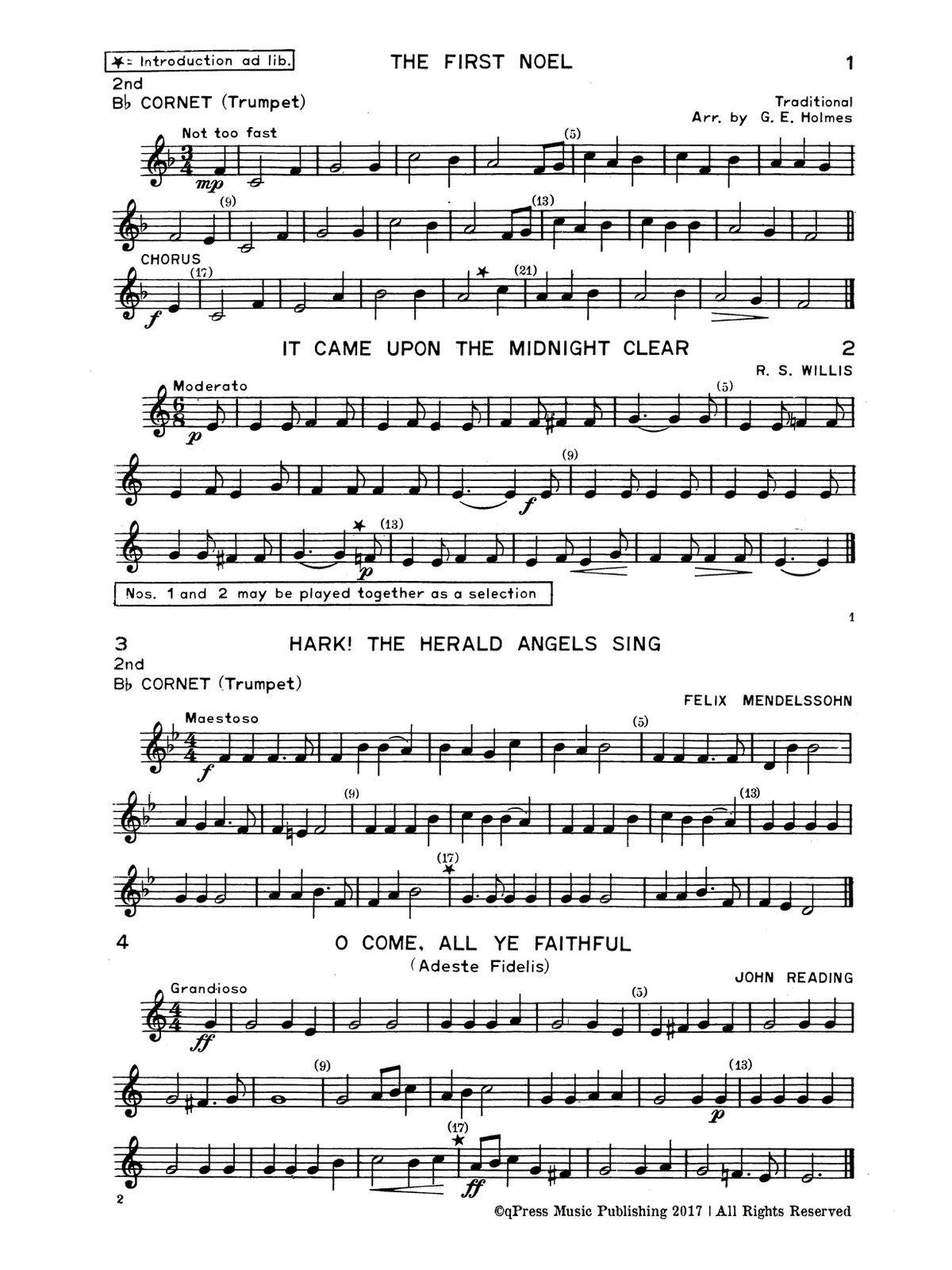 Holmes, GE, Christmas Carols for Brass Quartet-p07