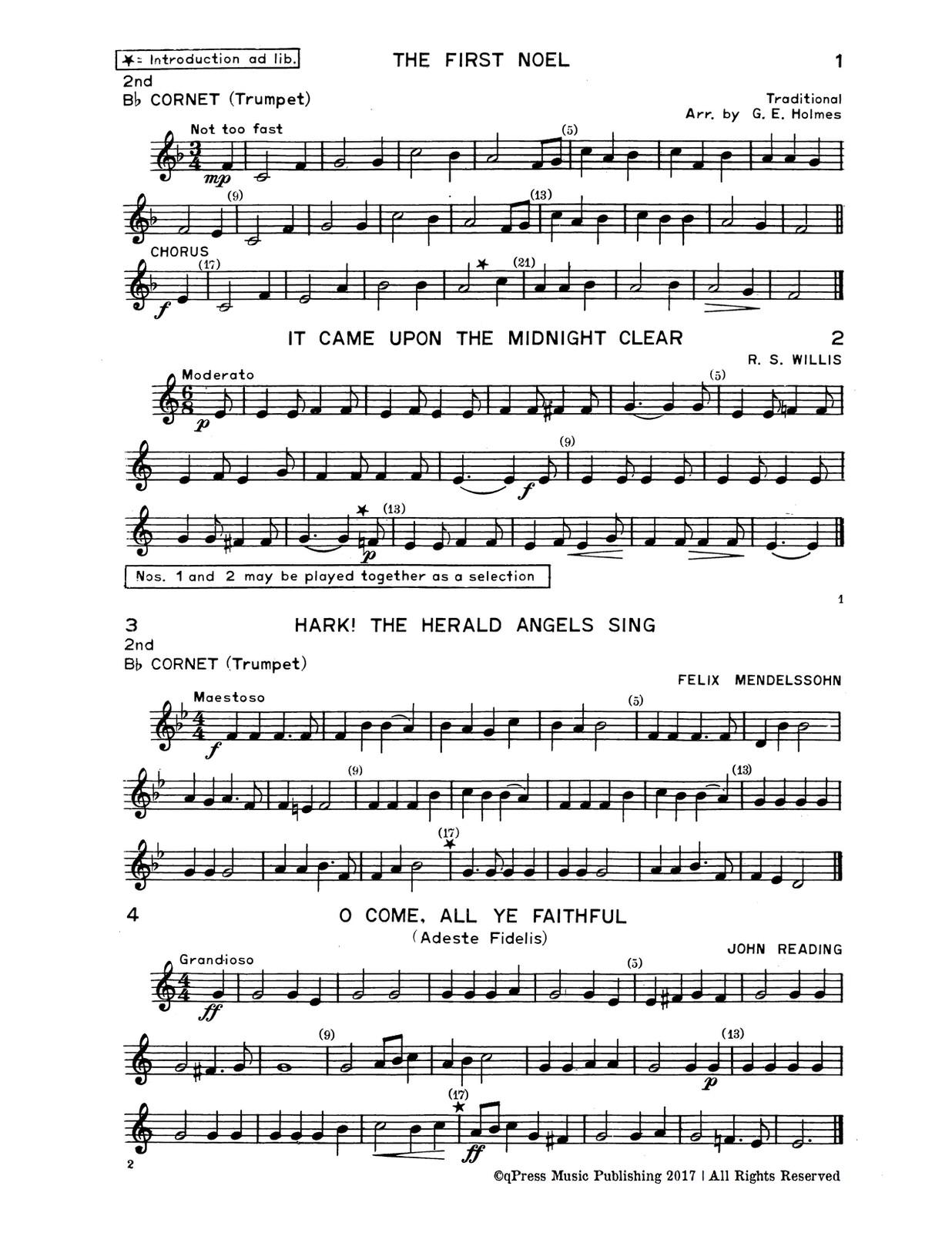 Holmes, GE, Christmas Carols for Brass Quartet-p07