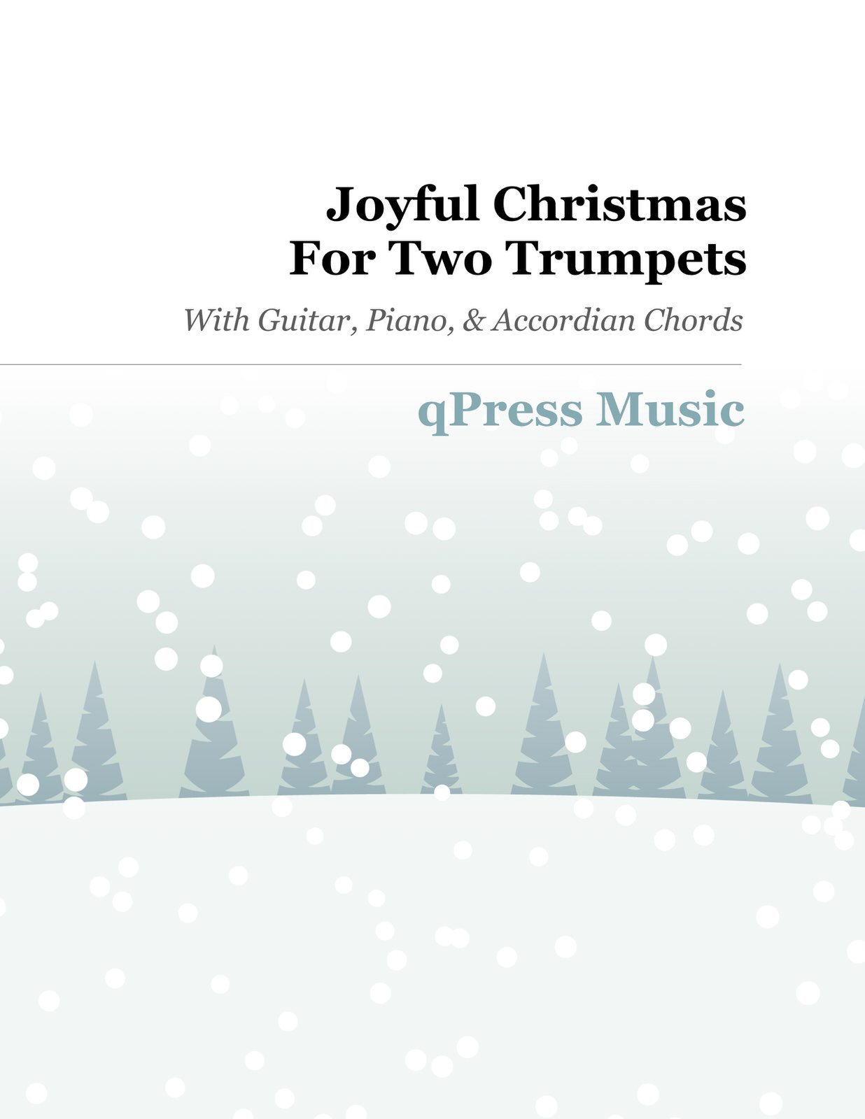Joyful Christmas for Two Trumpets