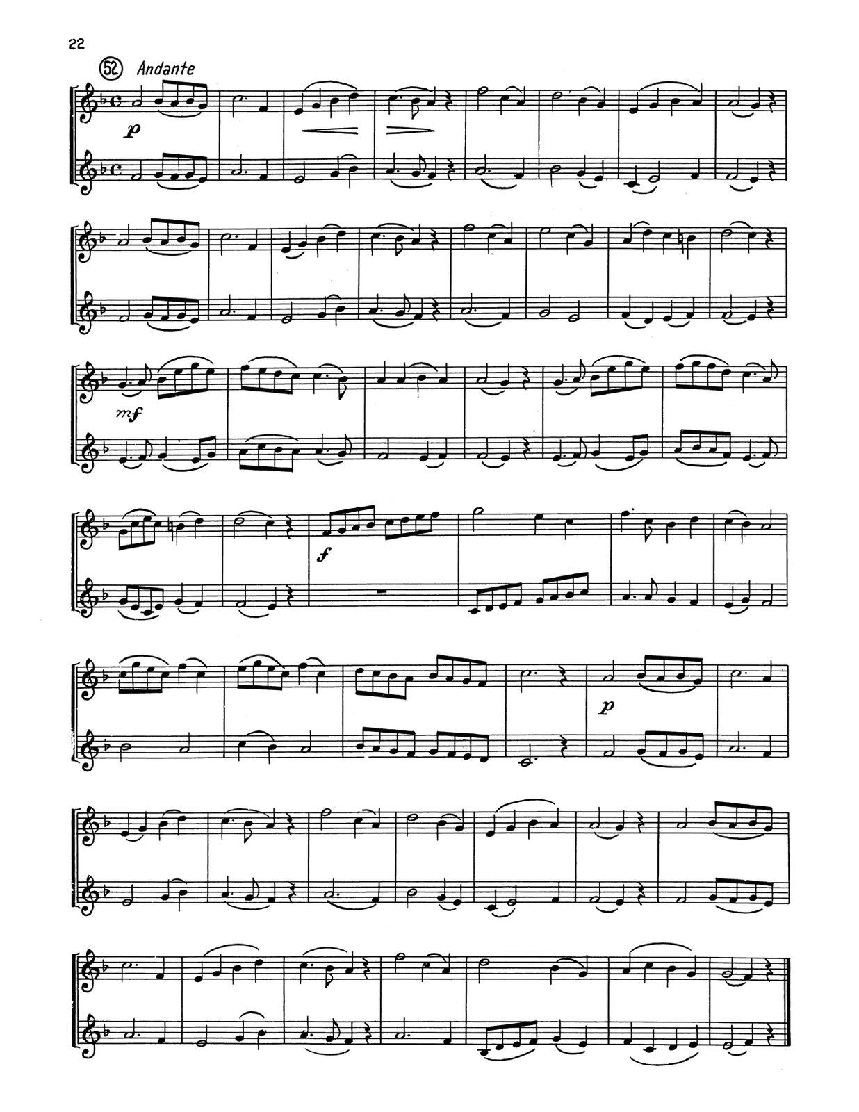 Lahn, 54 Duets for Trumpet-p22