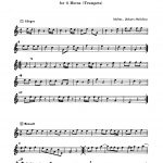 Molter, Symphony in C for 4 Trumpets or Horns-p07