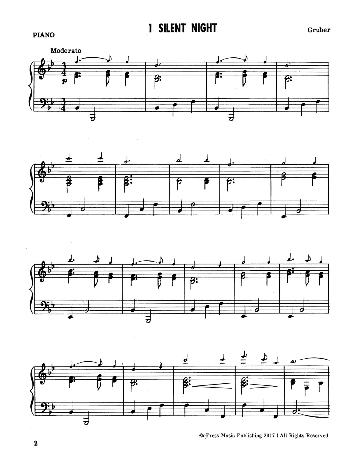 Easy Christmas Songs for One or Two Trumpets with Piano by Prescott ...