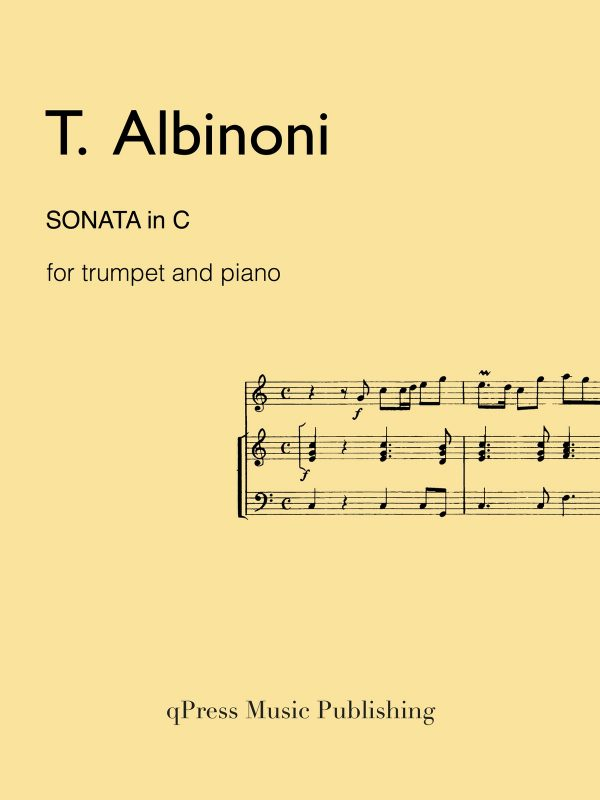 Albinoni, Sonata in C for Trumpet and Piano-p01