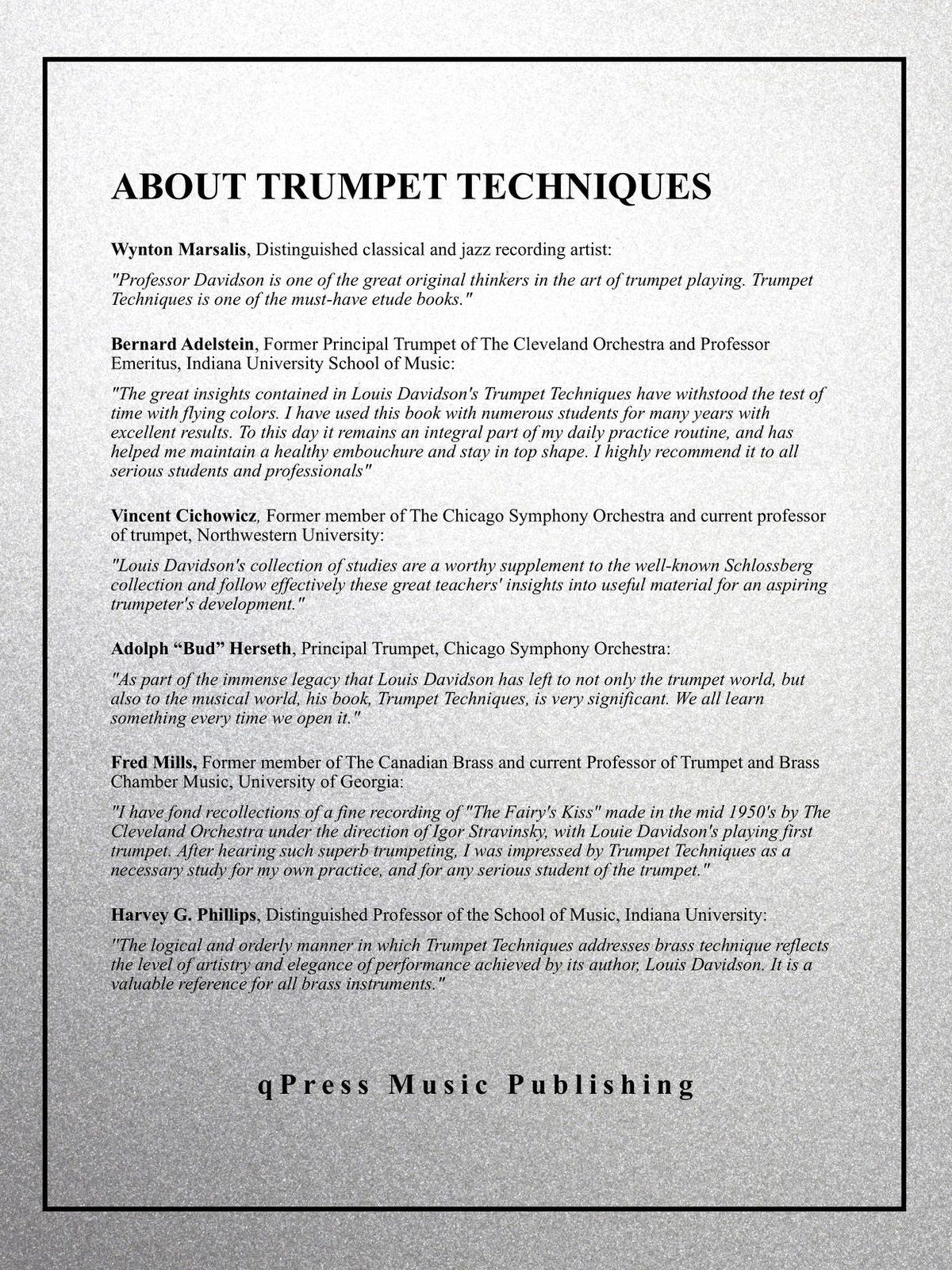 Davidson, Trumpet Techniques