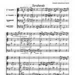 Bach, Sarabande and Minuet (Score and Parts) 2