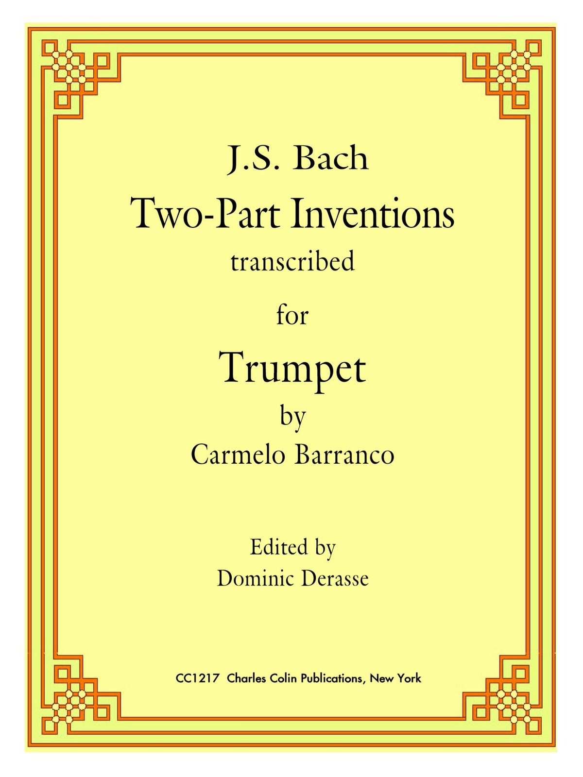 Barranco-Derasse, Bach 2 Part Inventions for Trumpet-p01
