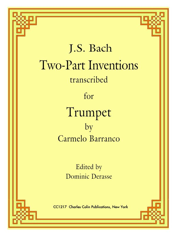 Barranco-Derasse, Bach 2 Part Inventions for Trumpet-p01