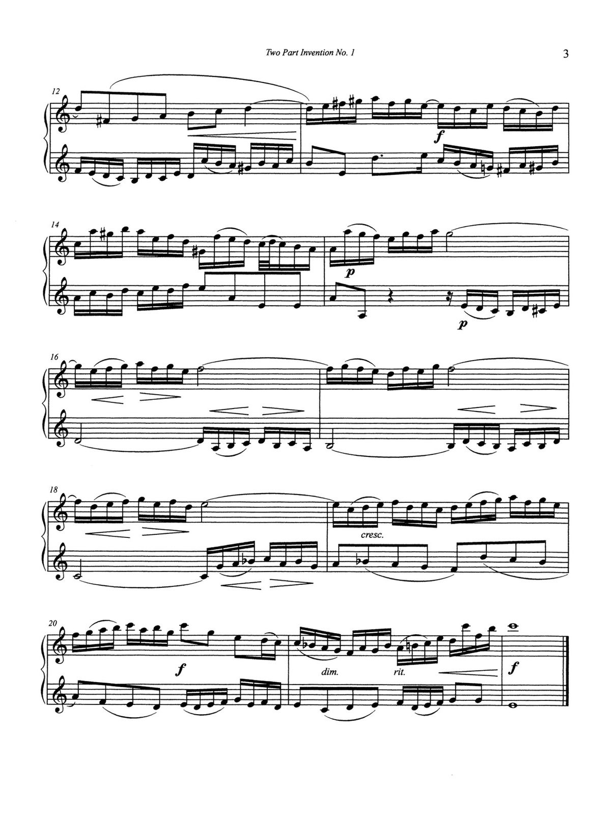 Barranco-Derasse, Bach 2 Part Inventions for Trumpet-p05