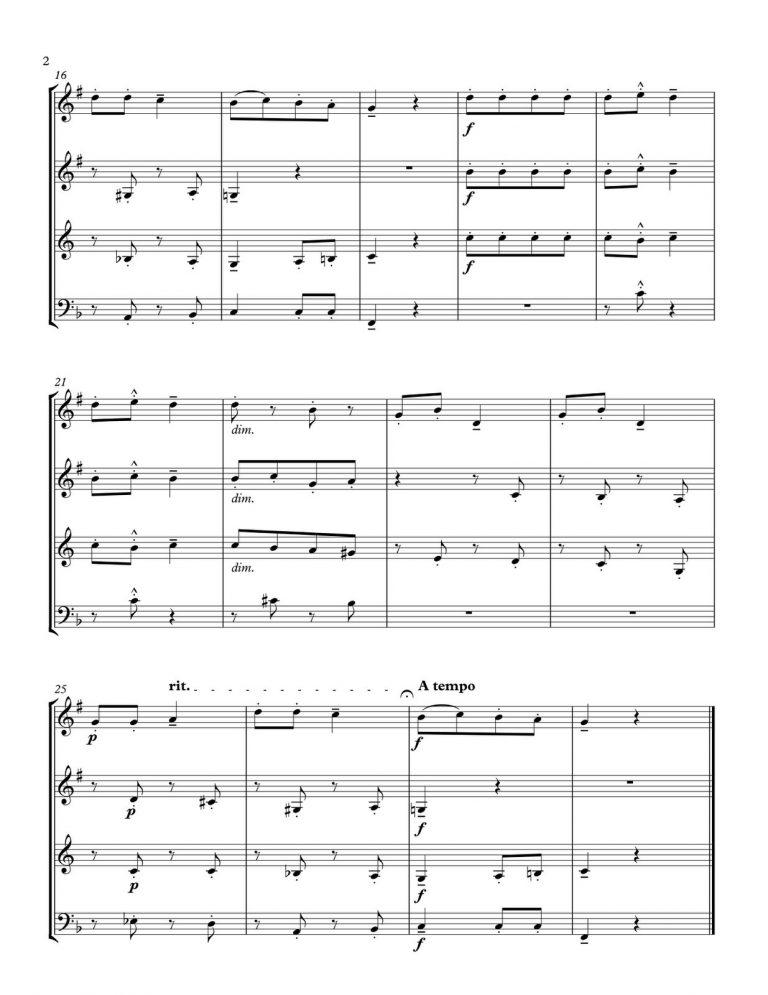 "Bartok ""For Children"" Brass Quartet"