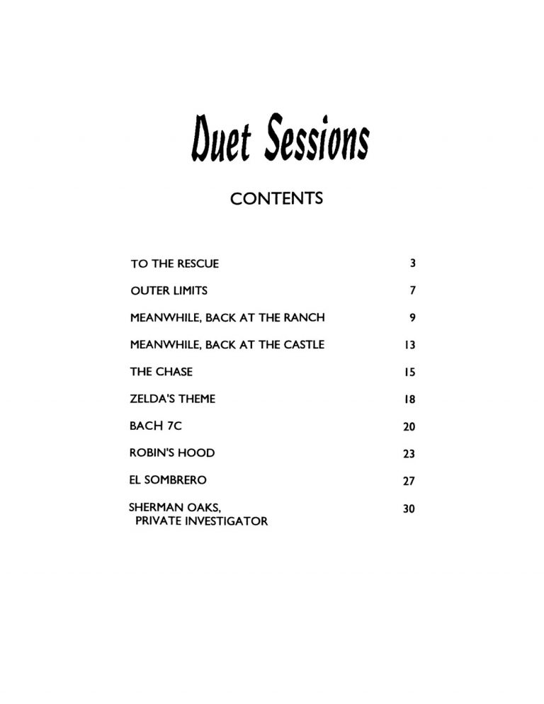 Duet Sessions in the Modern Jazz Idiom