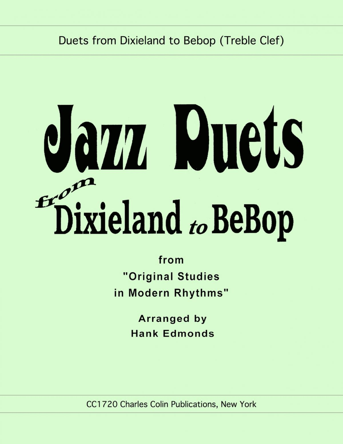 Edmonds, Jazz Duets from Dixie to Bebop-p01