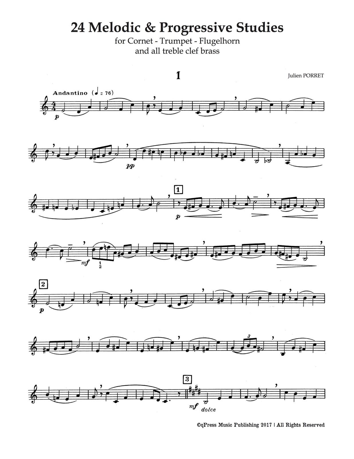 Porret, 24 Etudes Melodiques et Progressives-p06