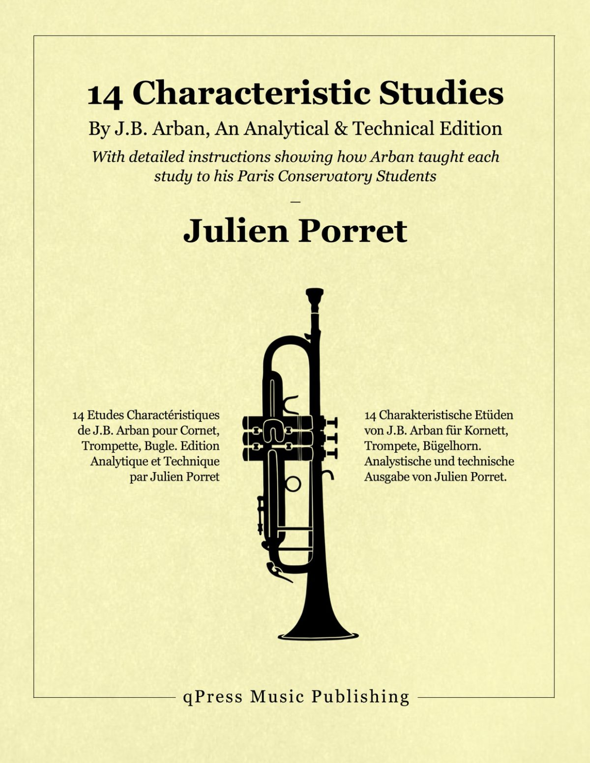 Porret, Arban's 14 Characteristic Studies (Analytical Edition)-p01