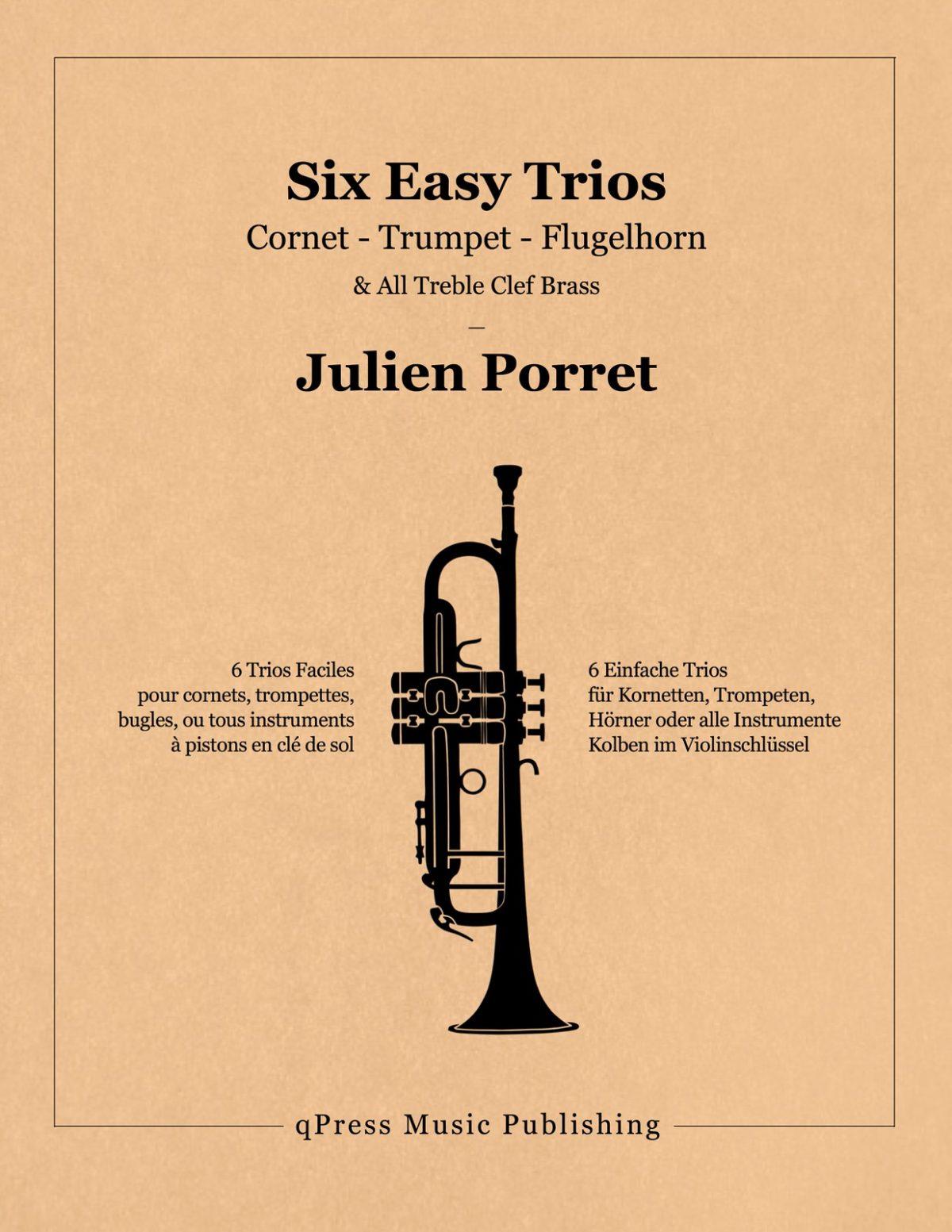 Porret, Six Easy Trios For Treble Clef Brass-p01