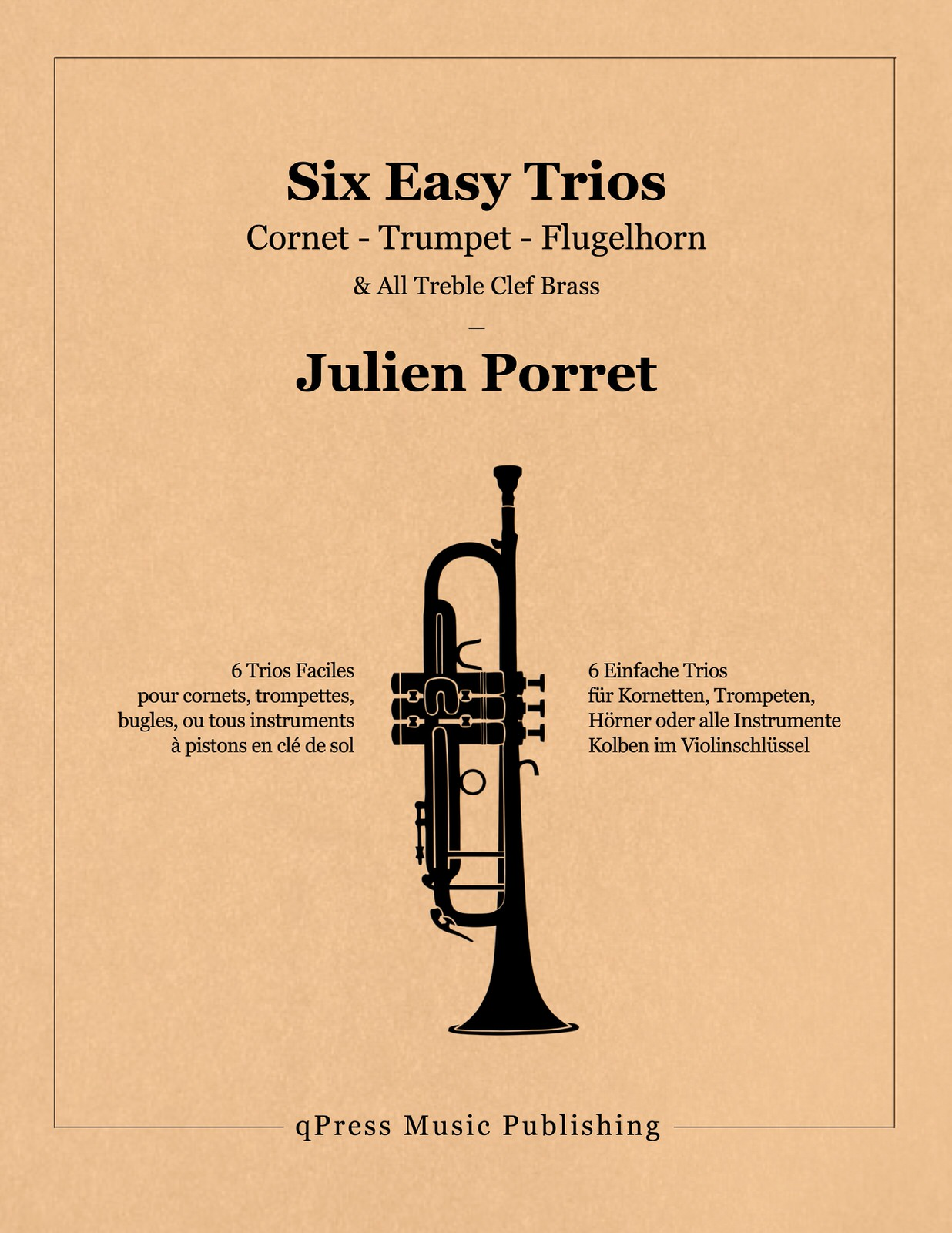 Porret, Six Easy Trios For Treble Clef Brass-p01