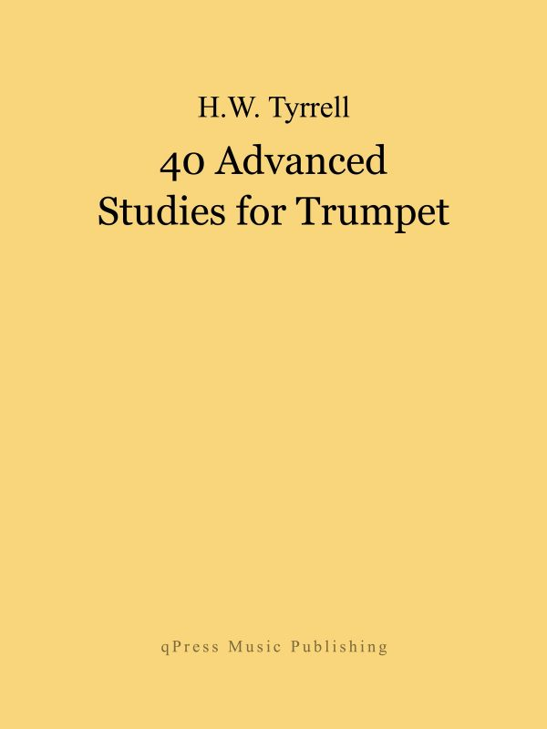 Tyrrell, 40 Advanced Studies for Trumpet-p01