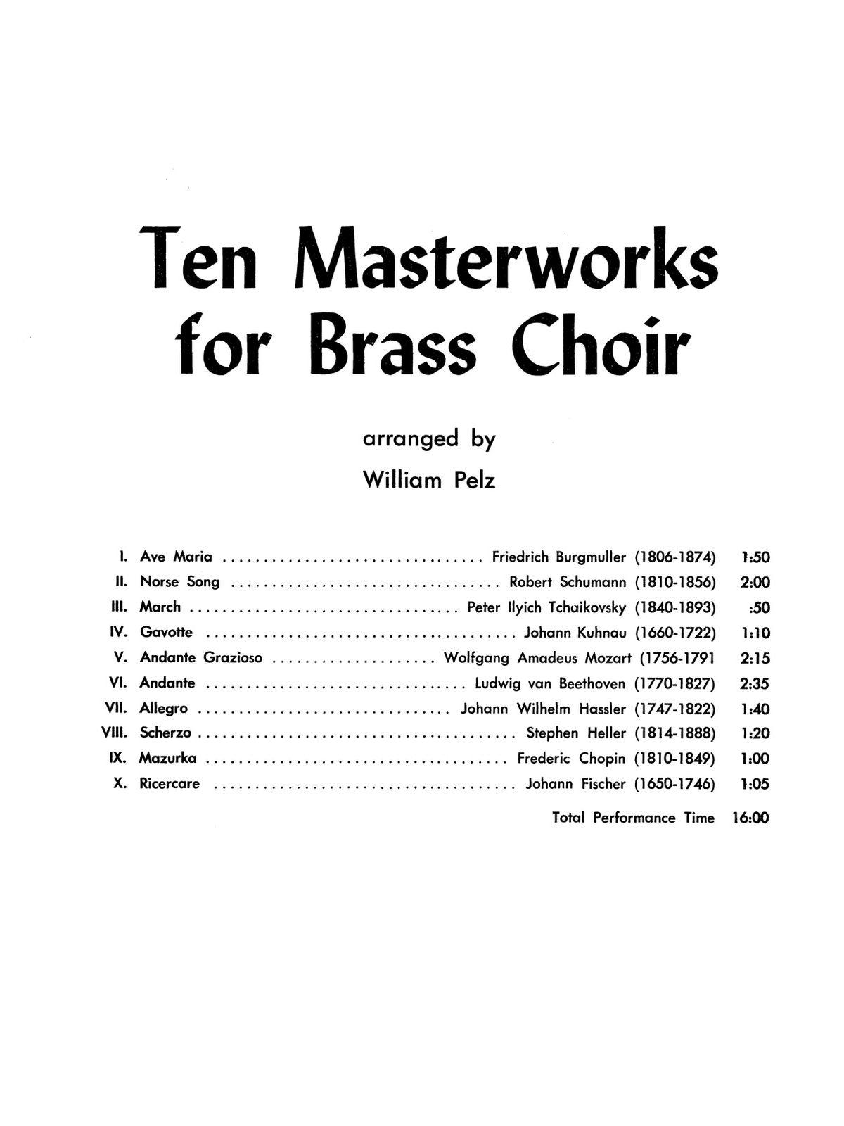 Various, Ten Masterworks for Brass Choir-p03