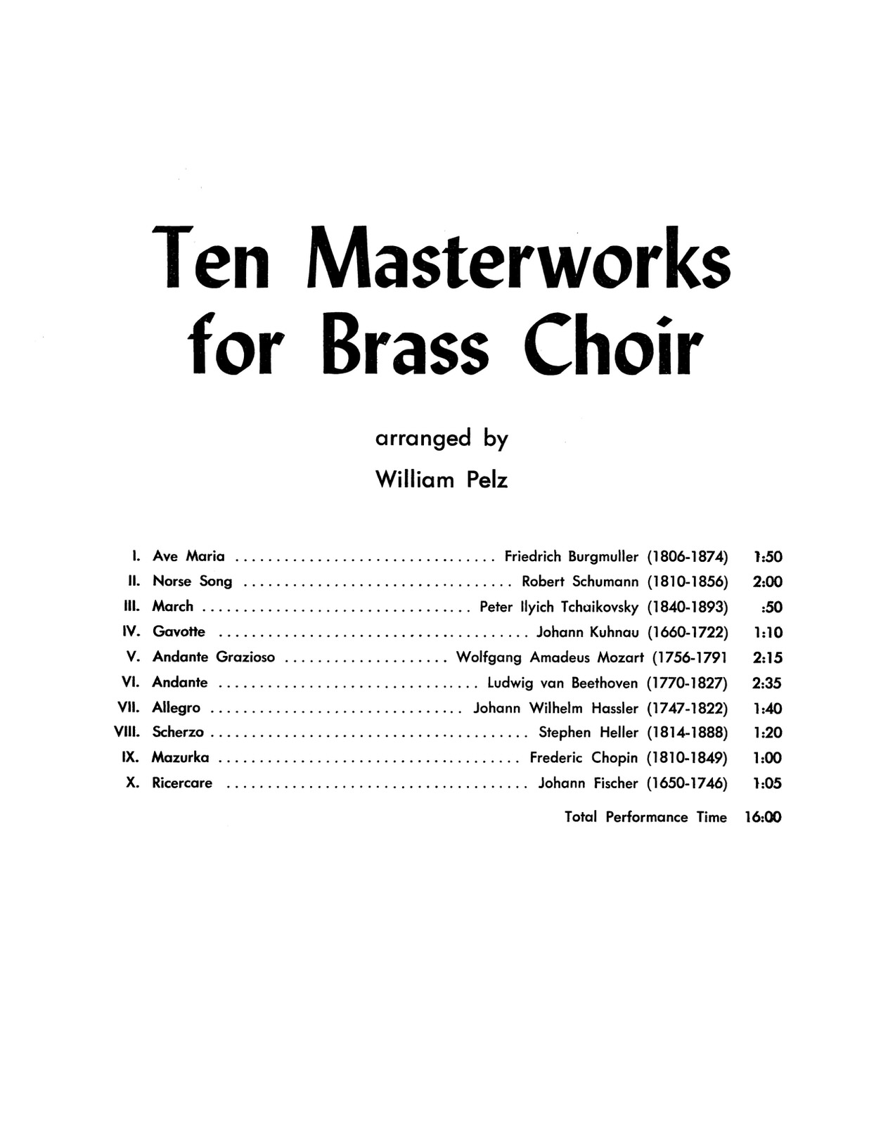 Various, Ten Masterworks for Brass Choir-p03